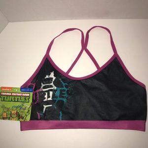 Girls Nickelodeon TMNT character sports bra 10/12
